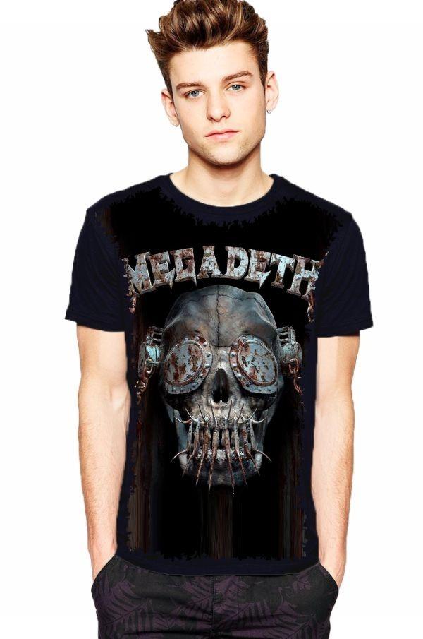 camiseta megadeth vic rattlehead dystopia. Carregando zoom. 50e2488cf338b