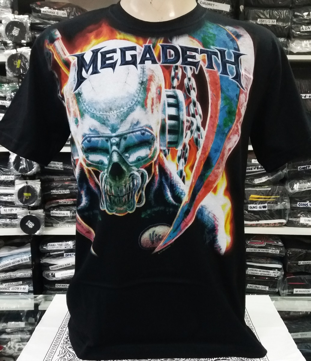 camiseta megadeth - vic rattlehead (sta). Carregando zoom. ef413d0cf1932