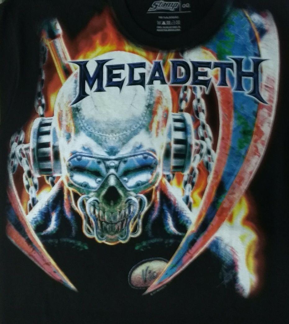 camiseta megadeth - vic rattlehead (sta). Carregando zoom. aa3999f562643
