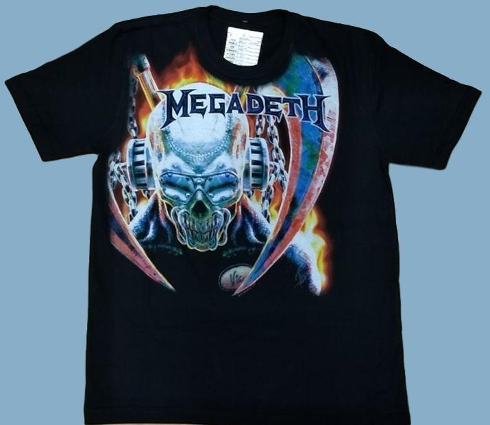 Camiseta Megadeth - Vic Rattlehead (sta) - R  52 3ab9424dc19a8