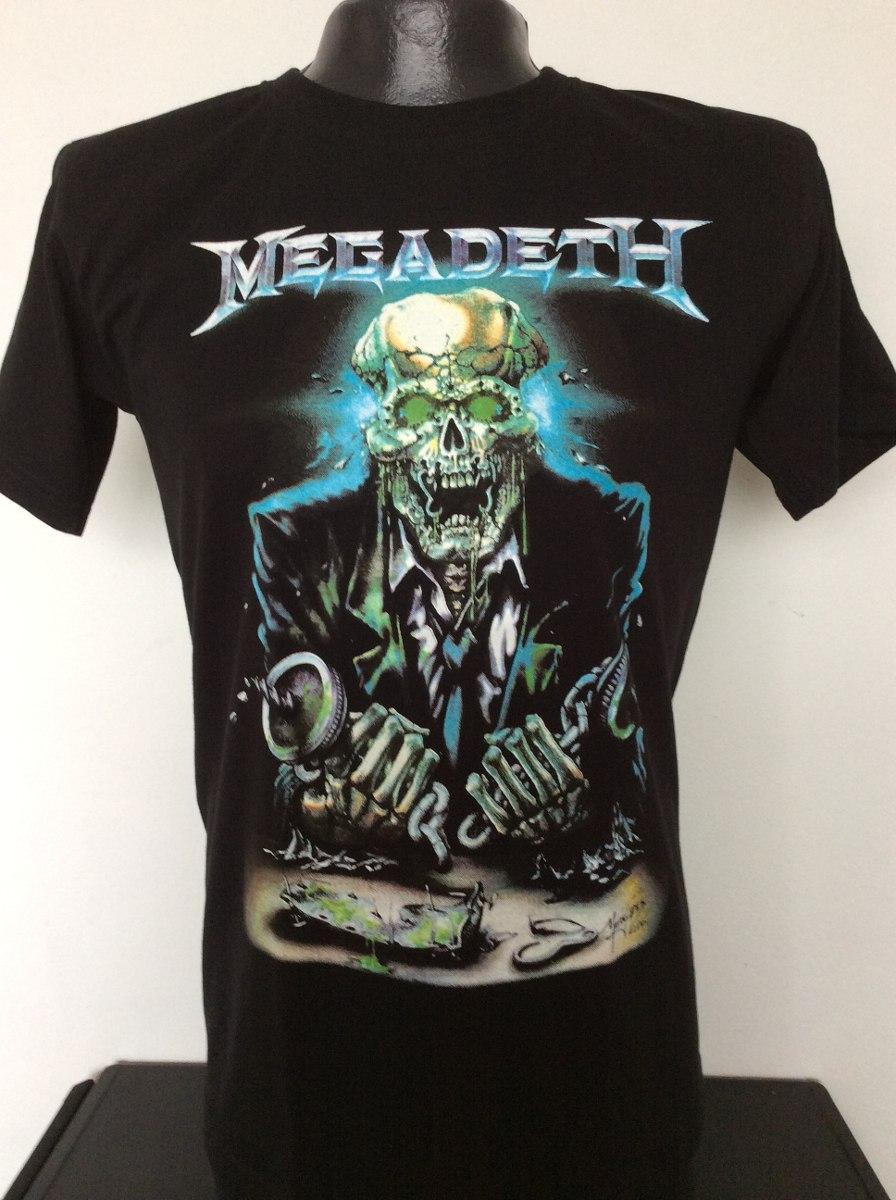 3d70359713828 Camiseta Megadeth Vic Rock Metal Anime Comics Heroes Salsa ...