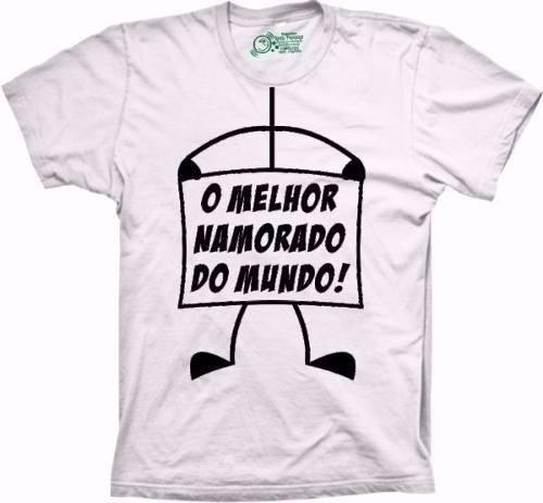 01851a63f2 Camiseta Melhor Namorado Do Mundo - R  46