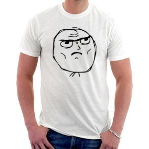 camiseta memes - cara séria