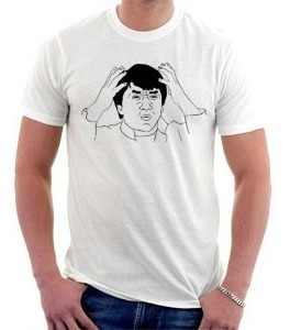 camiseta memes - jack chan - ferrou - puts - wtf