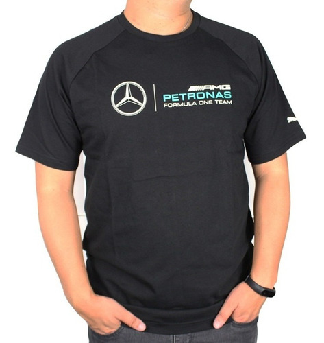 camiseta mercedes styfr mamgp logo tee preta