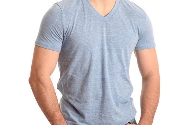 d892bb837 Camiseta Mescla Masculina Gola V - R  19