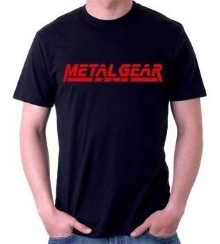 camiseta metal gear solid - games playstation - 100% algodão