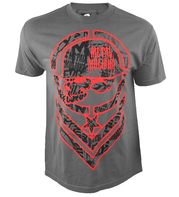 Camiseta Metal Mulisha Filler Charcoal Ufc 7ba322abb60