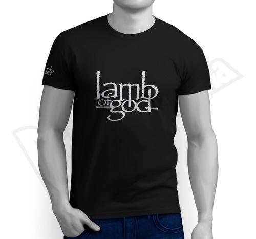 camiseta metal music - lamb of god