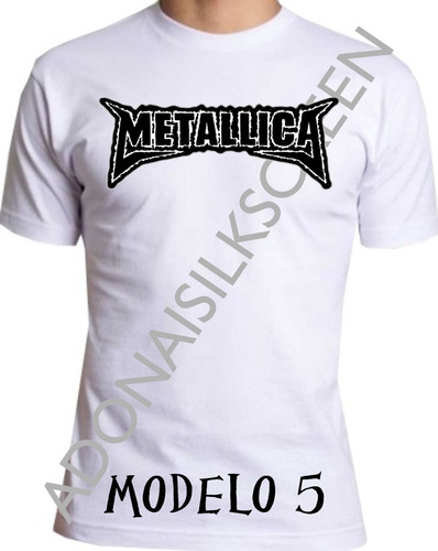 camiseta metalica rock metalica m-5
