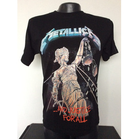 Camiseta Metallica And Justice For All Rock Metal Anime
