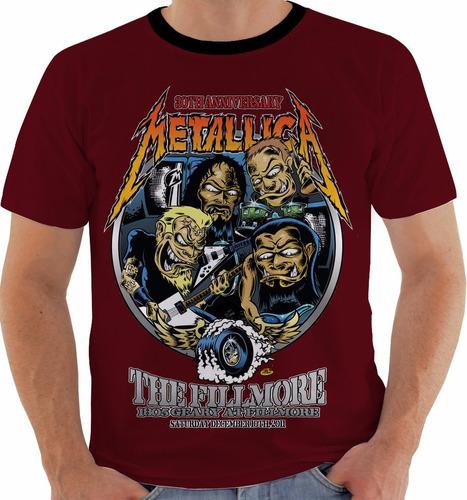 camiseta metallica - concert poster - fillmore tour