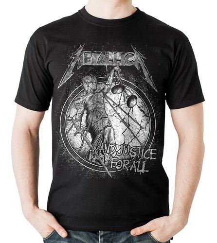 camiseta metallica justice for all rock activity