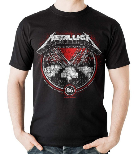 camiseta metallica master of puppets rock activity