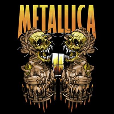 camiseta metallica sanitarium stamp