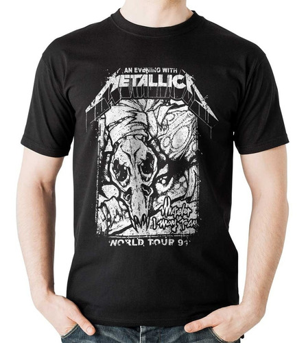 camiseta metallica tour 91 rock activity