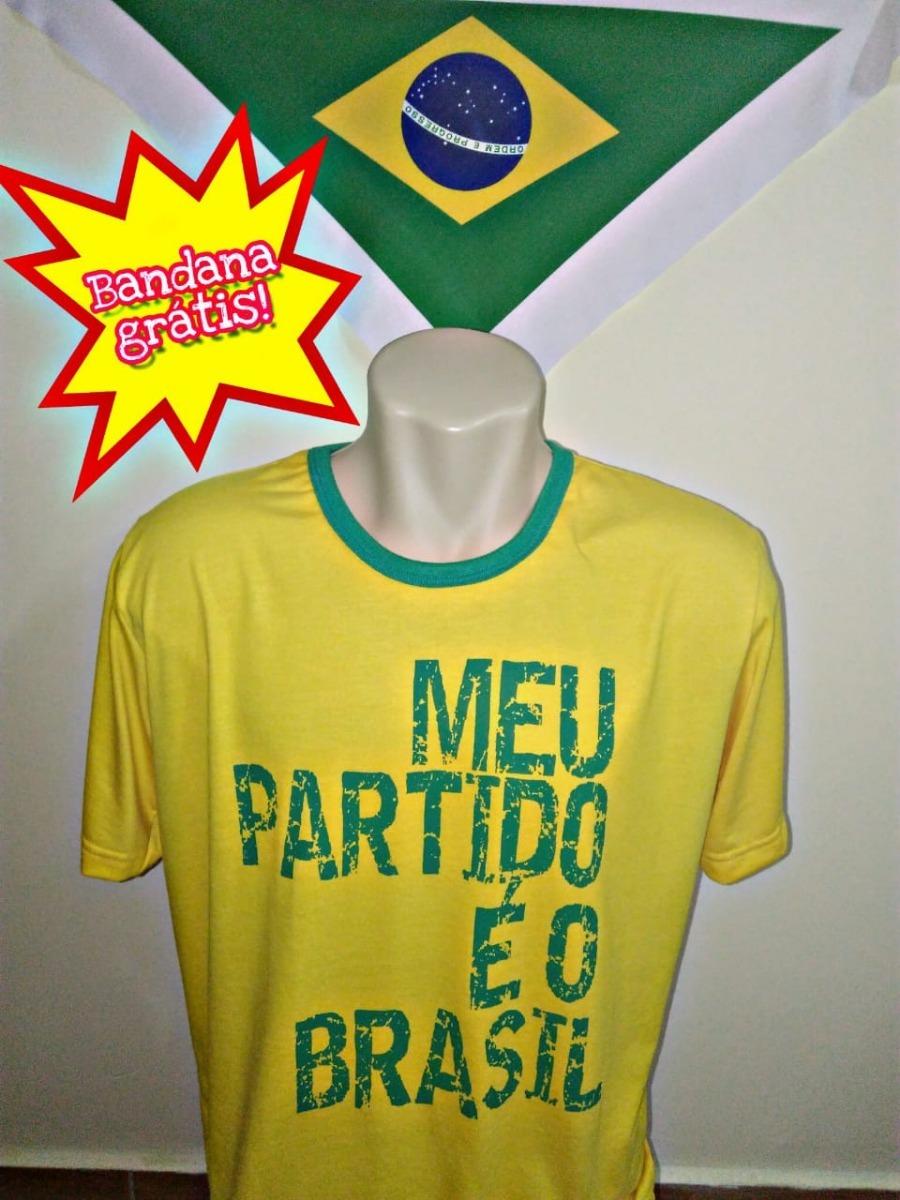 8d33fce02d Camiseta Meu Partido É O Brasil (bolsonaro) - R  35