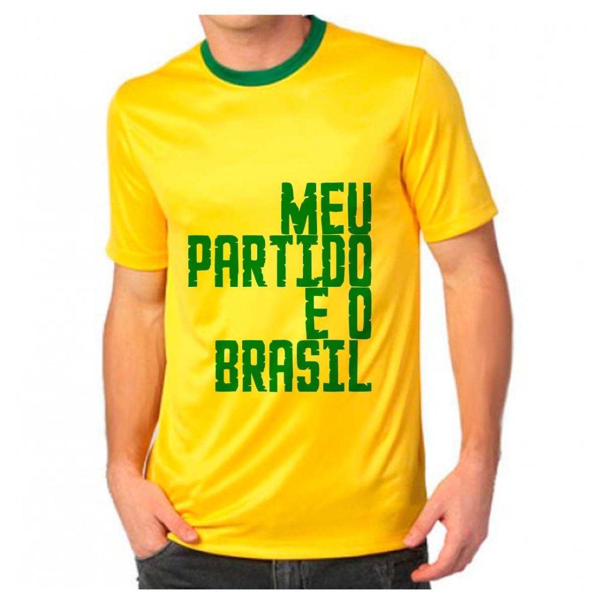 camiseta meu partido é o brasil faca bolsonaro brasil facada. Carregando  zoom. 51911a6c0036a