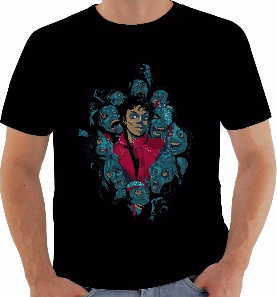 camiseta michael jackson thriller. Carregando zoom. 3f72ced3ffa03