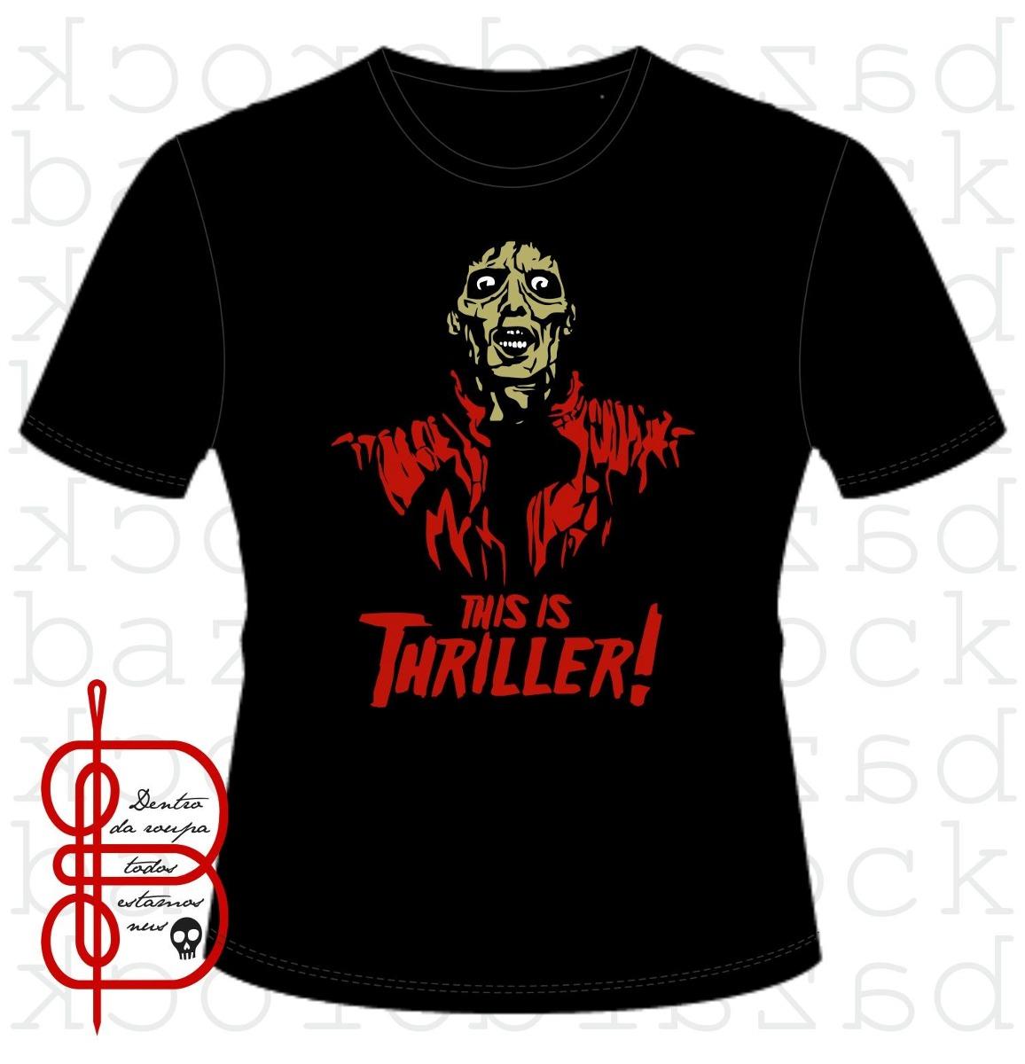 camiseta michael jackson - thriller. Carregando zoom. 2480bcb16e788
