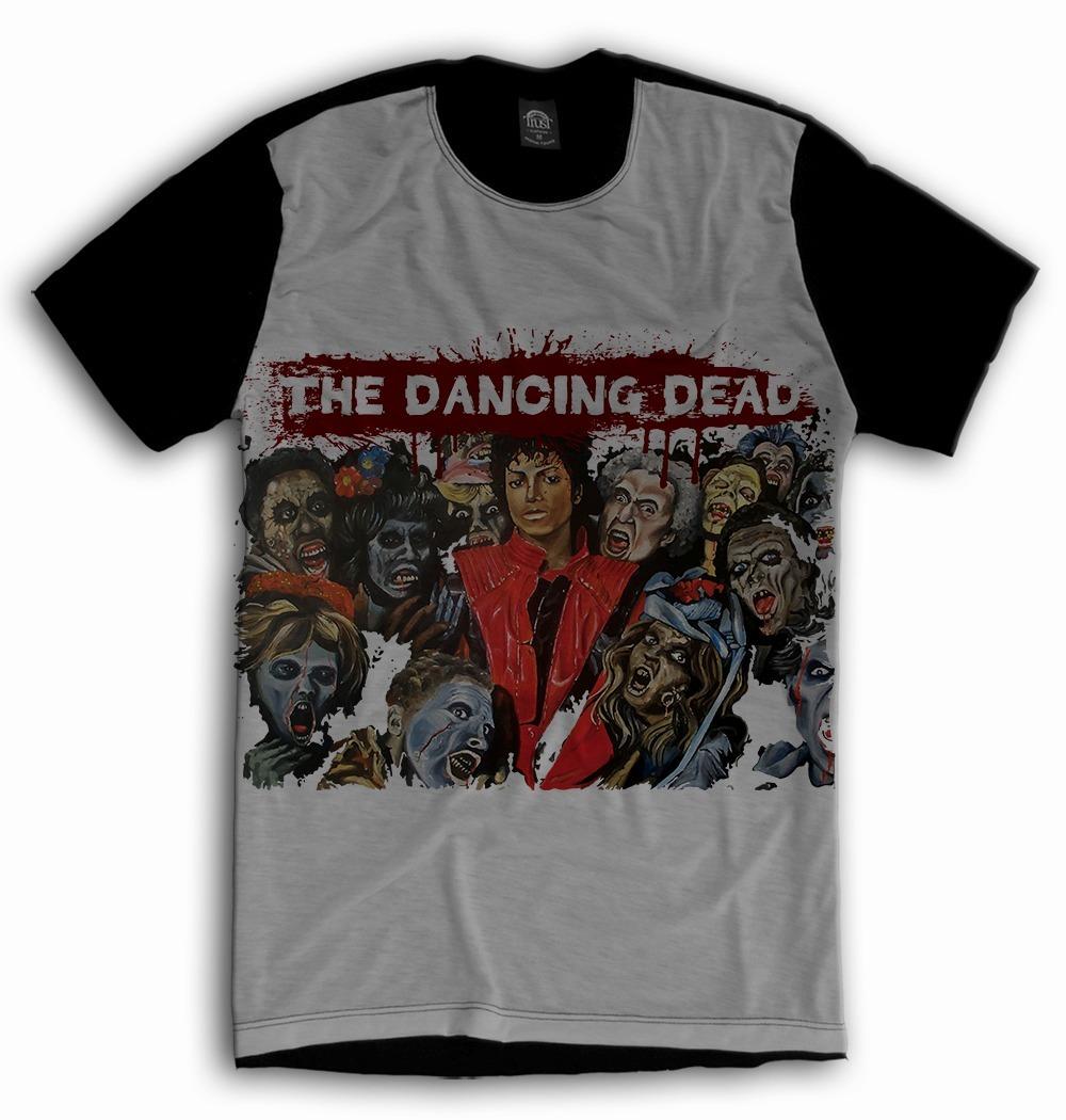 camiseta michael jackson thriller tv musica. Carregando zoom. 6dab607f65529