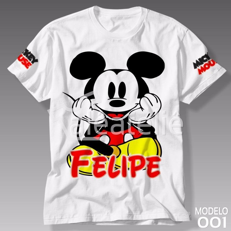 9bf4e60d9 camiseta mickey mouse disney camisa blusa personalizada  01. Carregando zoom .