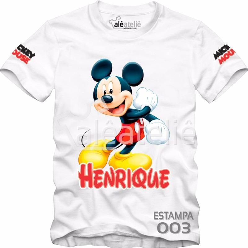 Camiseta Mickey Mouse Disney Camisa Blusa Personalizada  03 - R  29 ... ad37b65b40418