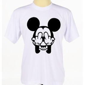 cd65db4726 Camiseta Mickey Mouse Rosto Masculina Camisa Promoção Top
