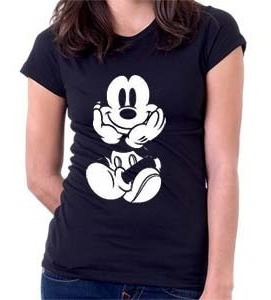 camiseta mickey sentado - desenhos - moda - 100% algodão