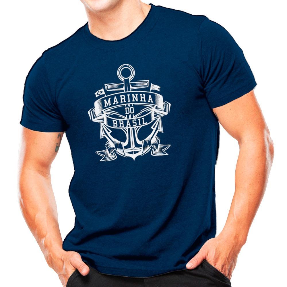 camiseta militar marinha do brasil azul estampa branca. Carregando zoom. cf2e9cfe96e15
