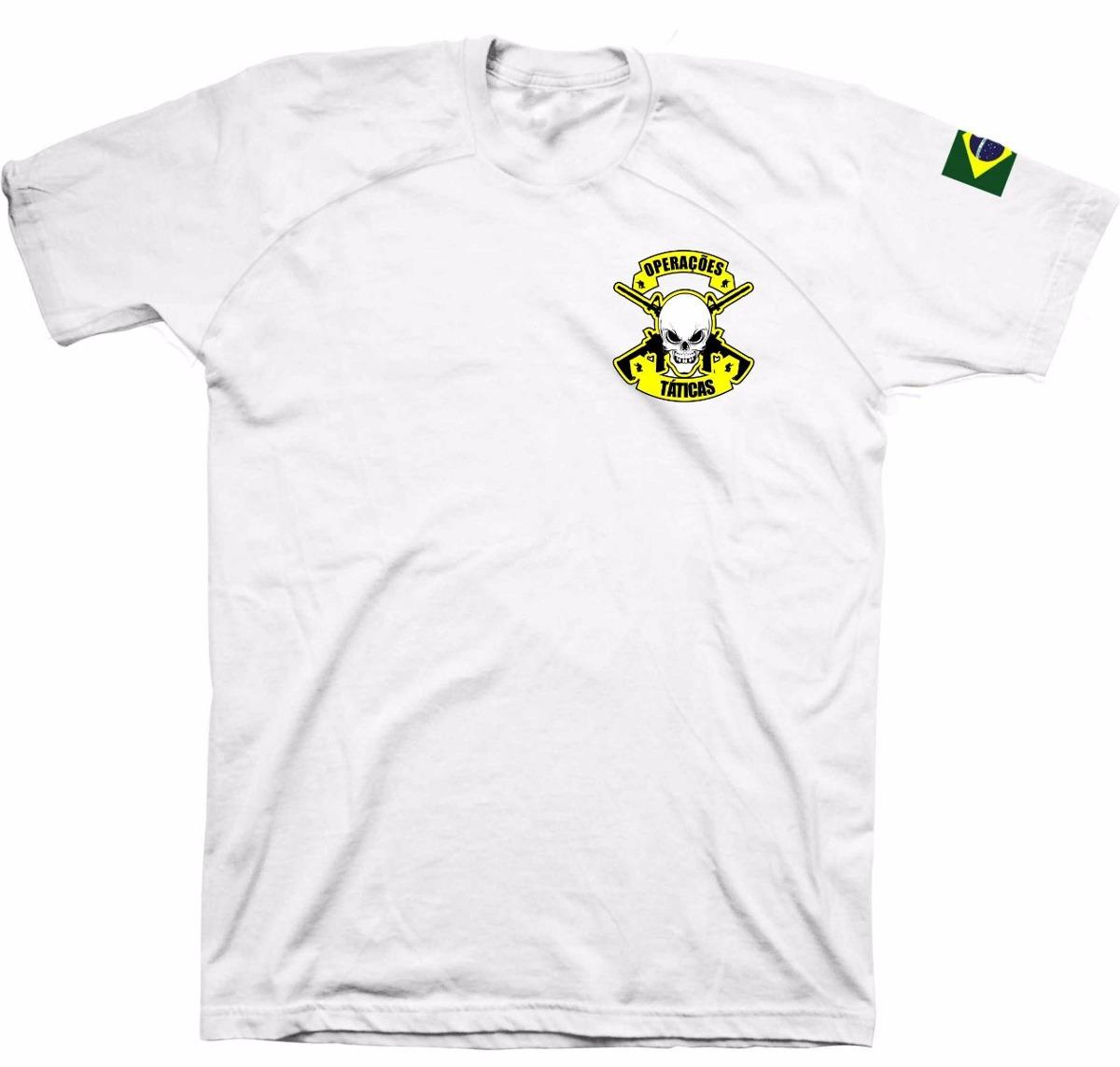 fe9aebf557 Camiseta Militar- Operações Táticas Com Nome Personalizado - R  79 ...
