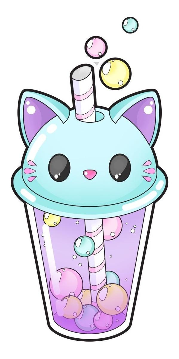 Camiseta Milkshake Gato Kawaii Cat Lover Camisa Blusa R 35 88
