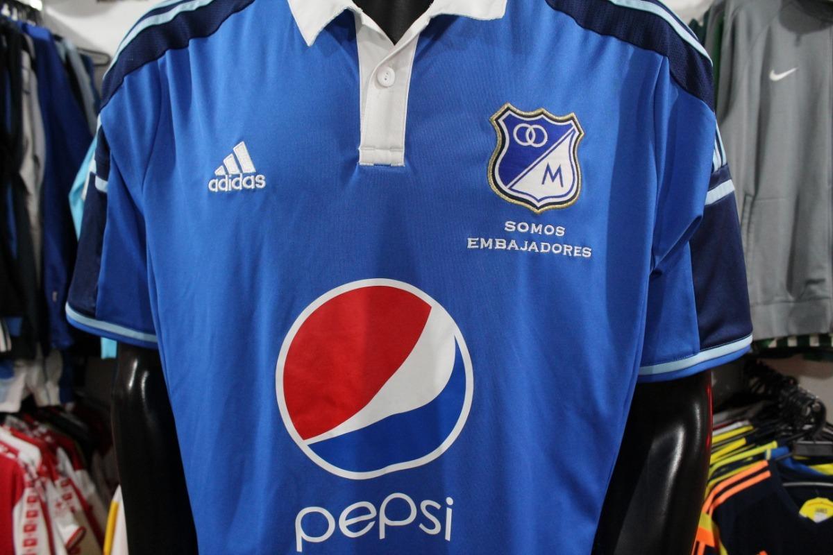 Camiseta Millonarios 2014 Talla Xl adidas Xdx -   90.000 en Mercado ... 91feca8e236