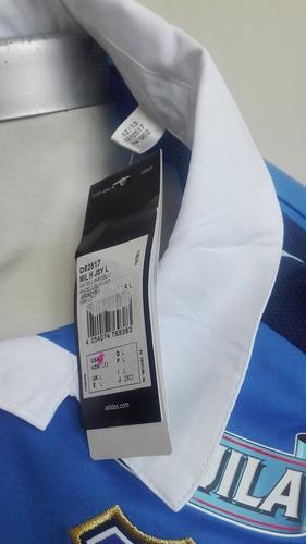 camiseta millonarios 2014 titular manga larga adidas nueva