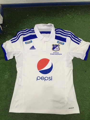 camiseta millonarios de colombia blanca