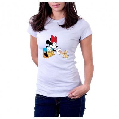 camiseta minnie e esquilo