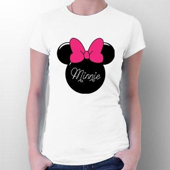 camiseta minnie mouse rosto - mickey - desenhos