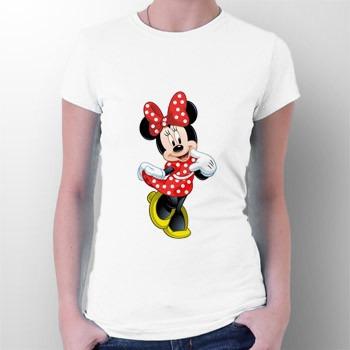 camiseta minnie mouse vestido vermelho - mickey - desenhos