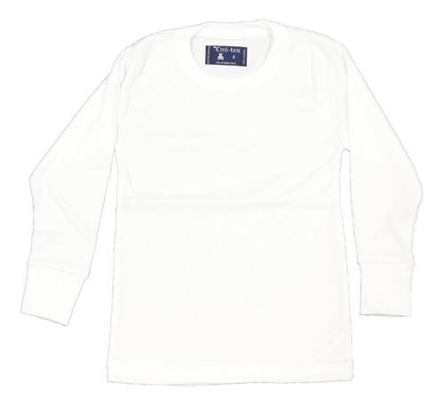 camiseta m/l niños algodón térmica c/redondo em