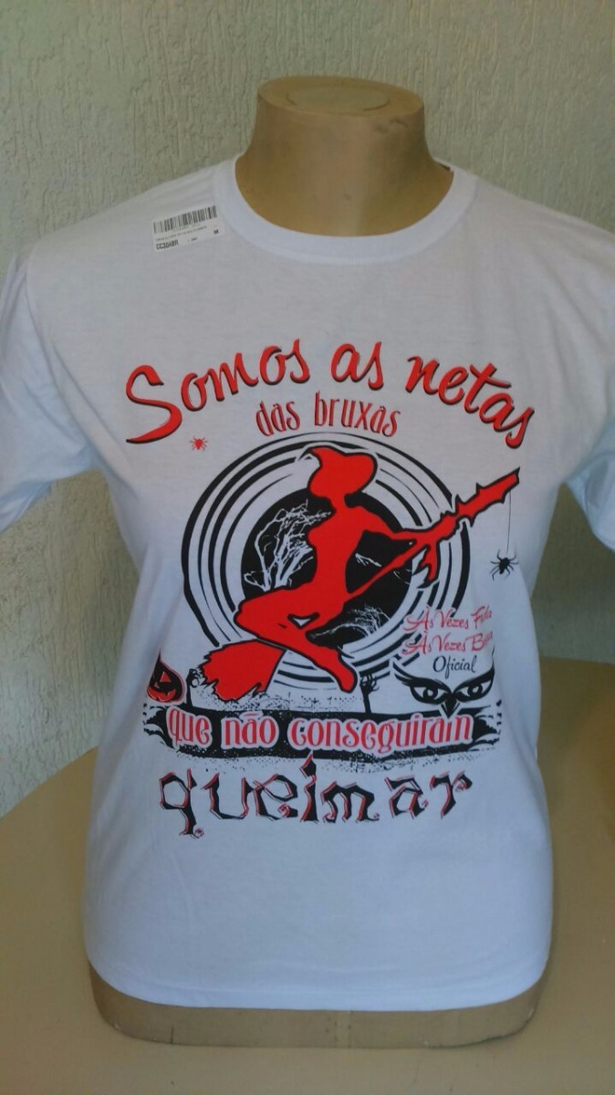 Camiseta Mod Tradicional As Vezes Fada As Vezes Bruxa R 3590 Em