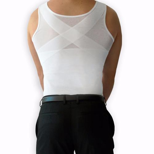 camiseta modeladora bioconfort faja hombre corrector postura