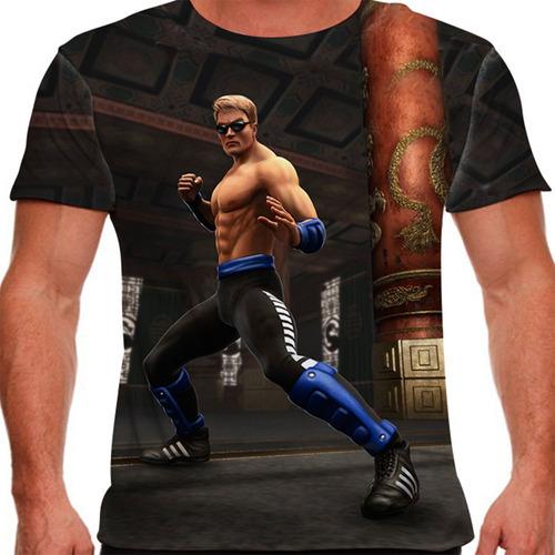 camiseta mortal kombat johnny cage masculina