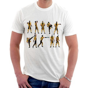 camiseta mortal kombat - scorpion pixels - games arcade