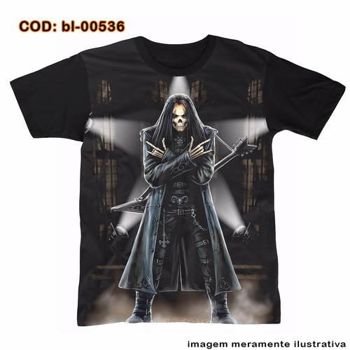 camiseta  morte a estrela do rock n roll