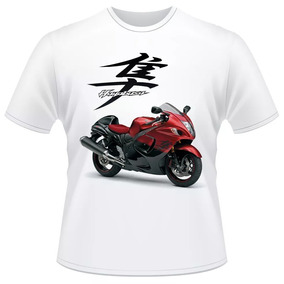 dcb4701f52 Camiseta Moto Suzuki Hayabusa Cod1 Gsx 1300 R Red Camisa