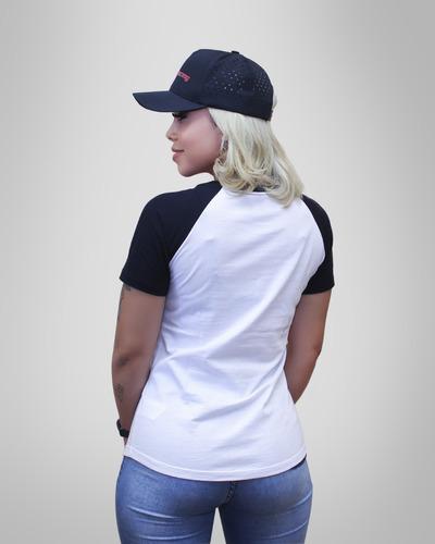 camiseta moto honda feminina motorcycles - coleção asa vintage - produto oficial