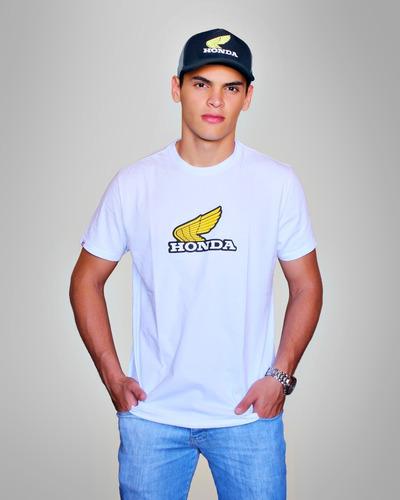 camiseta moto honda - vintage - branca - produto oficial