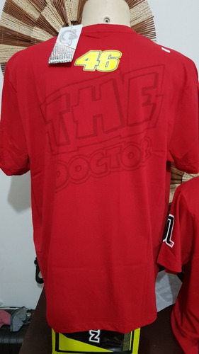 camiseta motociclista dogão valentino rossi 46 - original