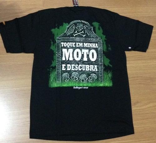 camiseta motociclista moto masculina existe vida apos morte