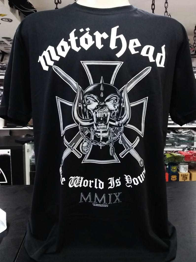 189bb53adc Camiseta Motorhead - The World Is Yours - Stamp - Tamanho Gg - R  49 ...
